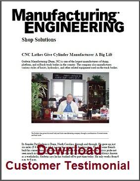 Manufactureing Engineering Magazine Article