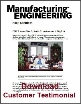 Manufactureing Engineering Magazine Article