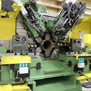 pipe and tube mill work, rotating cutoff lathes