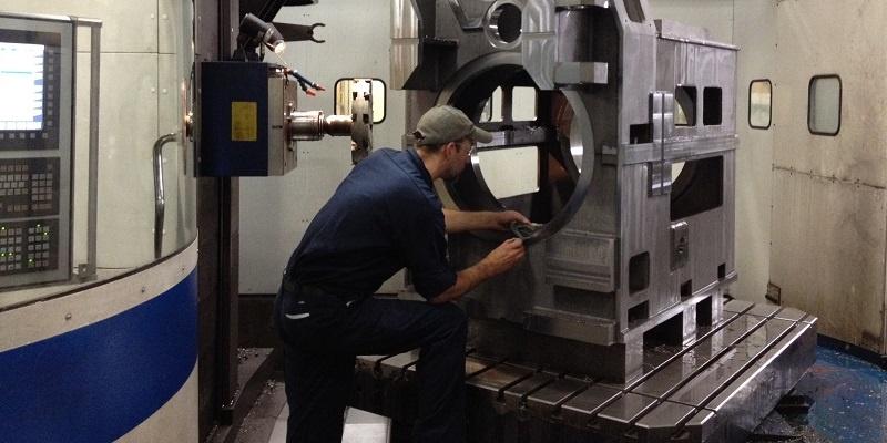 horizontal vertical cnc milling machine shop